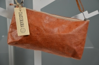 Pochette La Busta Large - avana bzw. natur (gegerbt)