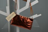 Pochette La Busta Small - metallic kupfer