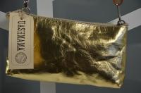 Pochette La Busta Small - metallic gold