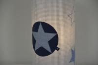 Lampenhusse mit Sternapplikation und gestickten Sternen